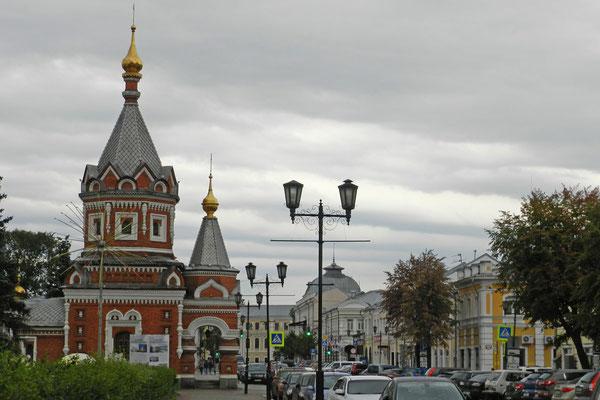 Orthodoxe Kapelle im Zentrum von Jaroslawl