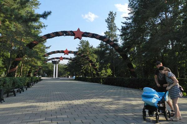 Eingang zum Orenburger Siegespark