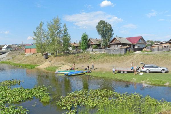 Hier ist die Endstation unserer Paddeltour im Ural.