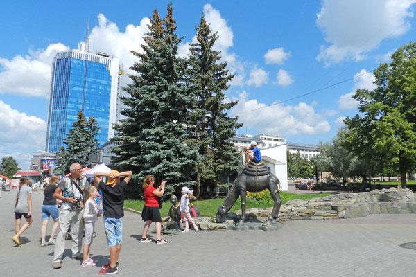 Tscheljabinsk-City und Kamel-Denkmal
