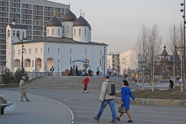 Neue orthodoxe Kirche auf dem Chodynka-Feld