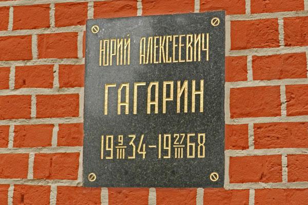 Die Urne mit der Asche Juri Gagarins wurde in der Kremlmauer bestattet.