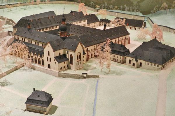 Модель аббатства в монастырском музее.