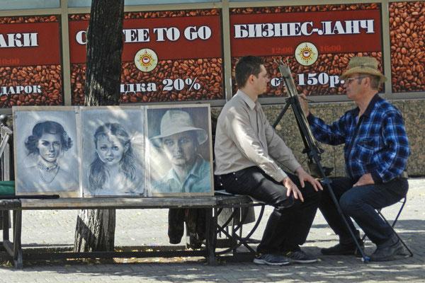 Künstler in der Kirow-Straße