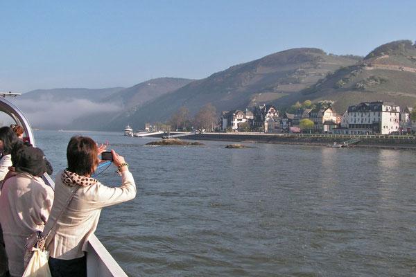 Туристы в Рейнской долине