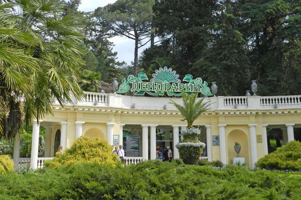 Der Eingang zum Dendrarium von Sotschi