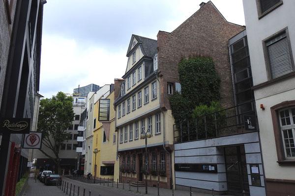 Дом Гёте в центре Франкфурта.