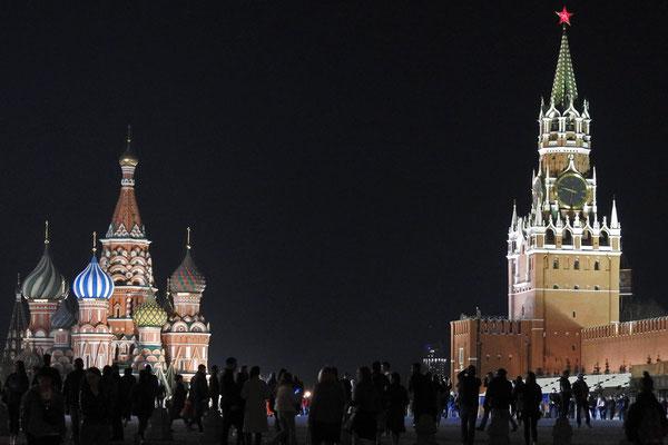 Immer ein Erlebnis - Der Rote Platz bei Nacht