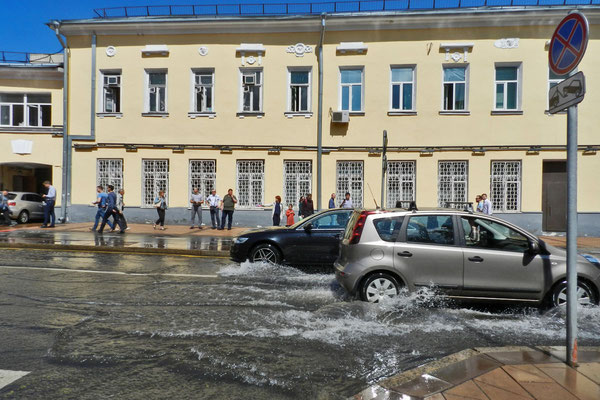 Zu viel Regen für Moskaus Kanalisation