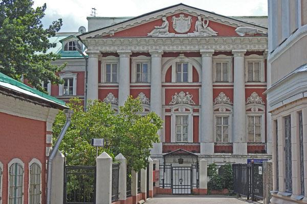 Stadtpalast am Ende der Gasse
