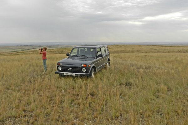Unterwegs mit Rangern im Lada-Geländewagen