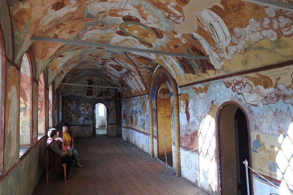 Fresken in einer der Kreml-Kirchen