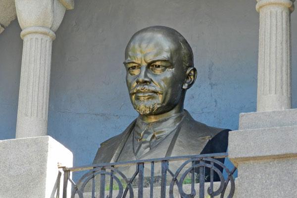 Vergoldete Lenin-Büste