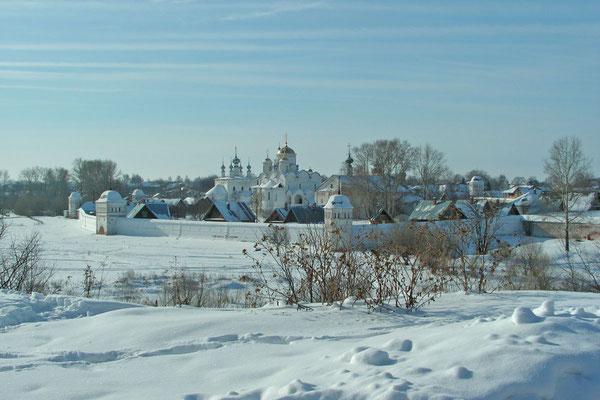 Blick auf das Kloster Mariä Schutz und Fürbitte
