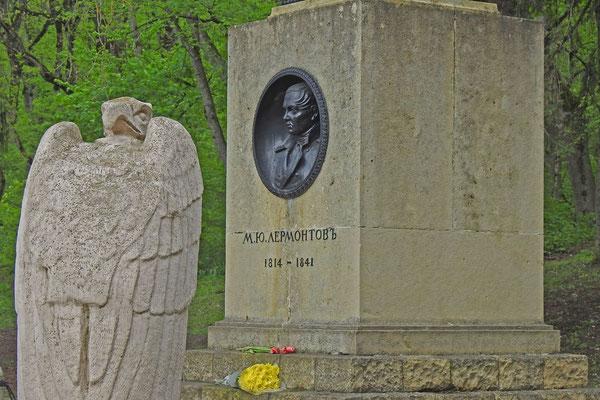 Stele am Ort des tödlichen Duells von Michail Lermontow
