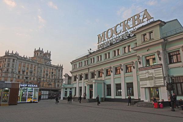 Traditioneller Endpunkt der Züge aus dem Westen: Moskau-Belorusskaja