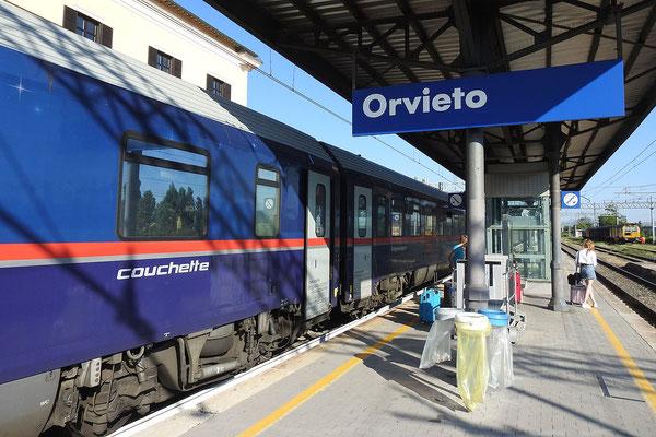 Ankunft in Orvieto mit dem Nachtzug aus München