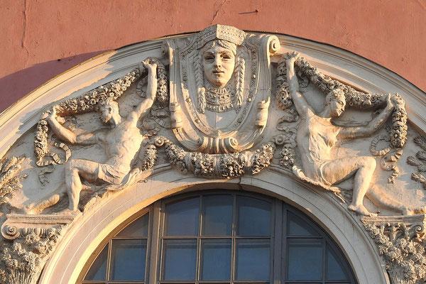 Detail der Theater-Fassade