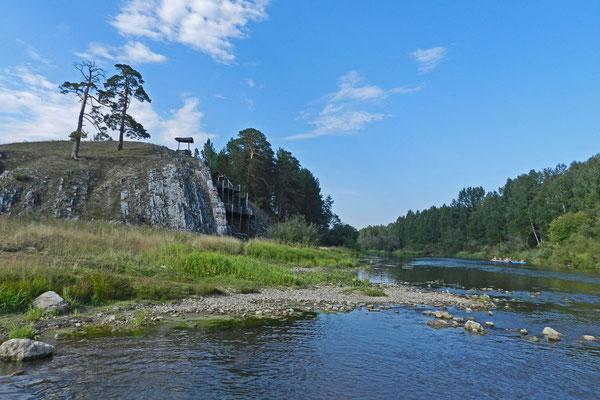 Überall entlang des Flusslaufs gibt es Badestellen.