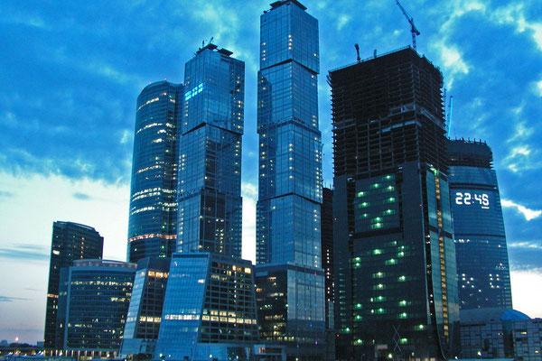 Die Moskau City im Jahr 2009