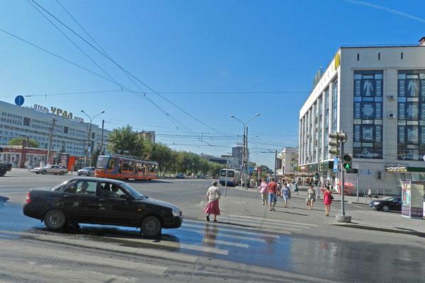 Kreuzung im Stadtzentrum von Perm