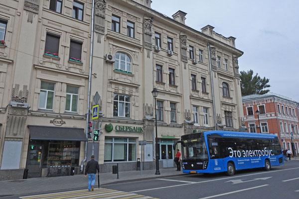 E-Bus auf der Pokrowka-Straße