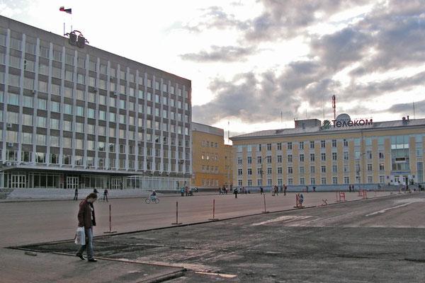 Am zentralen Stefan-Platz ist der Regierungssitz der Komi-Republik.