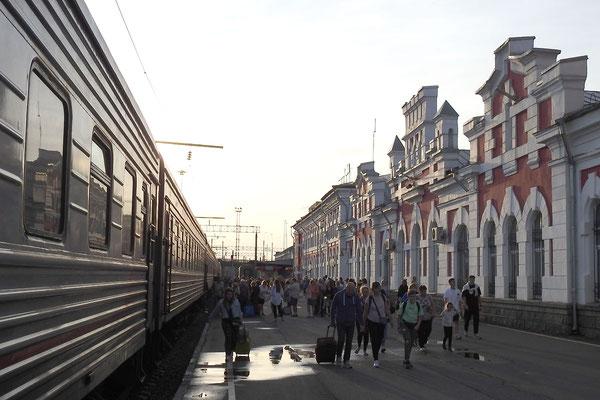 Abendstimmung am Bahnhof von Wologda