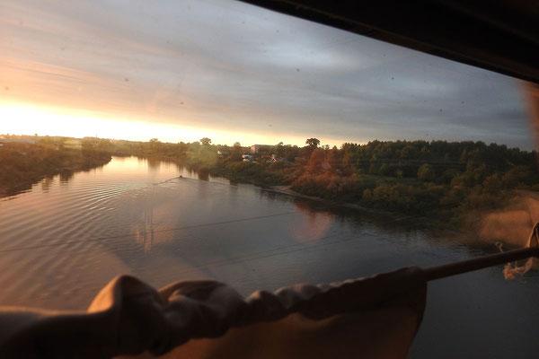 Letzter Blick auf die Suchona nördlich von Wologda