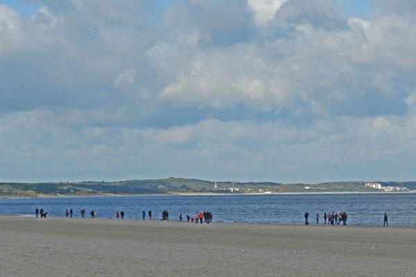 Пляж на Узедоме с видом на немецкую часть острова.