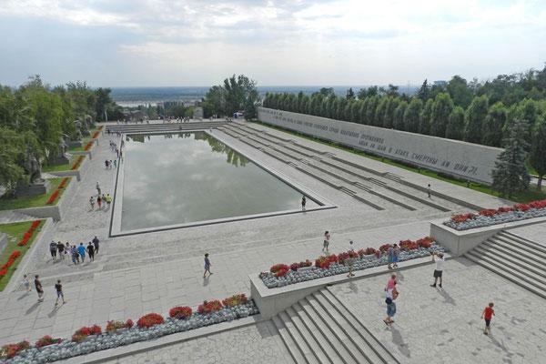 Platz der Helden auf dem Mamai-Hügel in Wolgograd