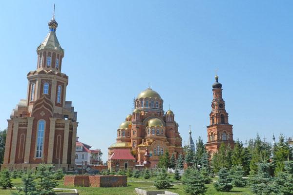 Blick auf einen Teil der Klosteranlage von Saraktasch