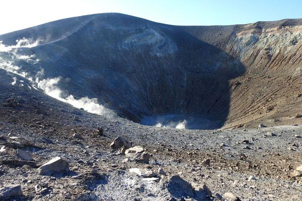 Ein Blick in den Kraterschlund