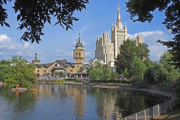 Großer Teich des Moskauer Zoos