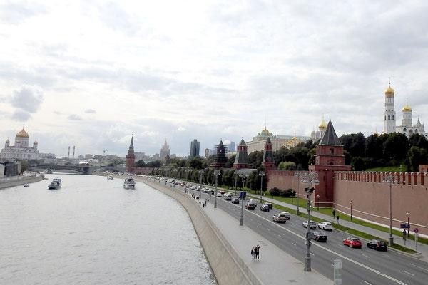 Blick auf den Kreml und die Moskwa