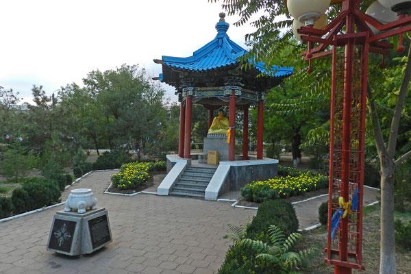 Buddha-Statue im Freundschaftspark von Elista