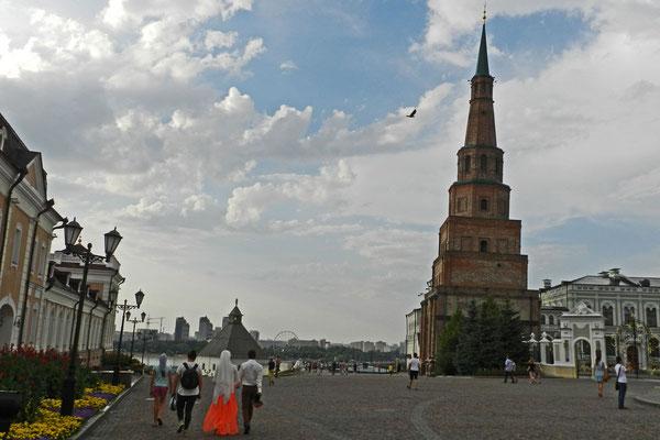 Auch der legendäre Sjujumbeki-Turm steht im Kreml