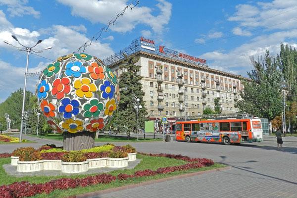 Im Zentrum wird Wolgograd bis heute recht sowjetisch.
