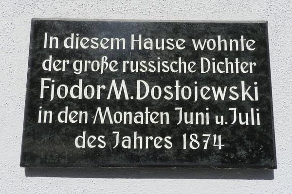 Gedenktafel für Fjodor Dostojewski