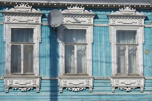 Typische Fensterrahmen