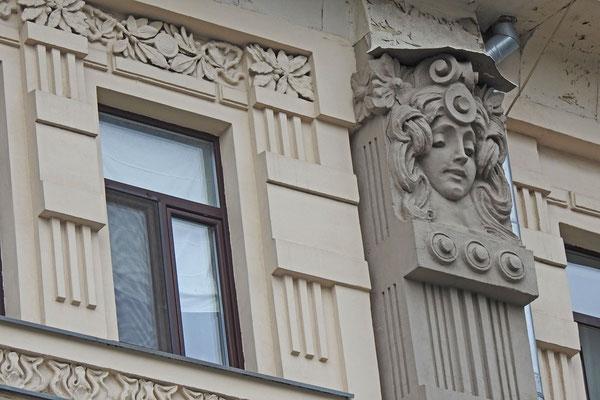 Jugendstil-Fassade an der Uliza Marosejka