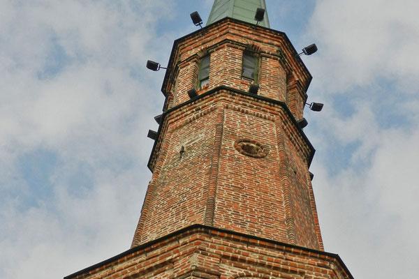 Der 58 Meter hohe Ziegel-Turm ist eines der Wahrzeichen von Kasan.