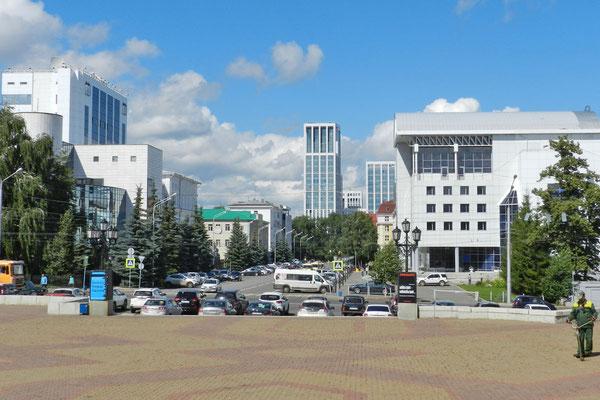 Moderne Bauten im Zentrum von Ufa