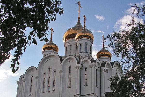 Die neu erbaute Kirche ist Zentrum des orthodoxen Bistums der Komi-Republik.