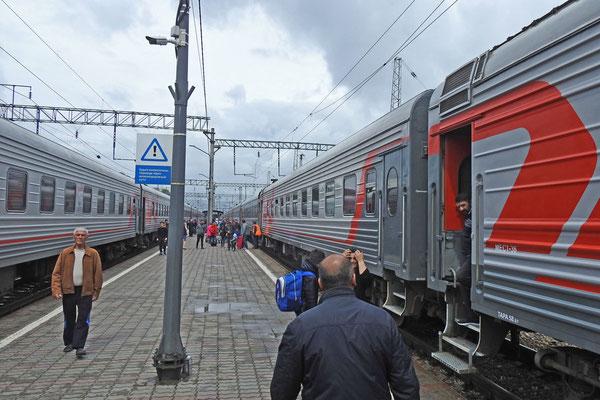 Ankunft am Bahnhof Mineralnye Wody