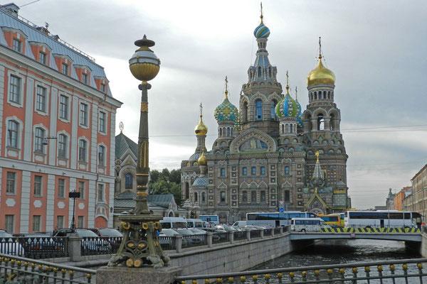 Am Standort der Blutkirche wurde einst Zar Alexander II. von Anarchisten ermordet