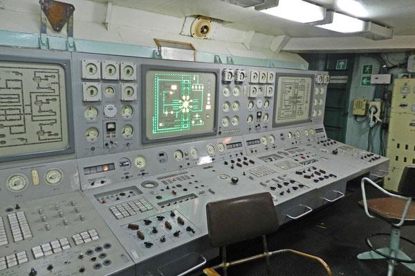 Im Reaktorkontrollraum des Atomeisbrechers