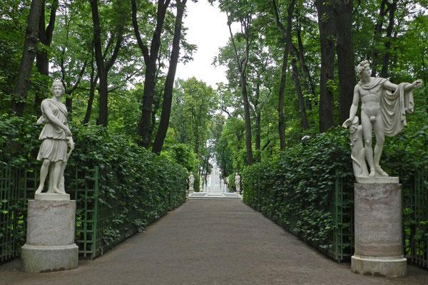 Am zentralen Weg des Sommergartens