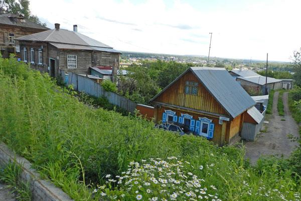 Bis heute gibt es im Zentrum Viertel mit alten Holzhäusern.