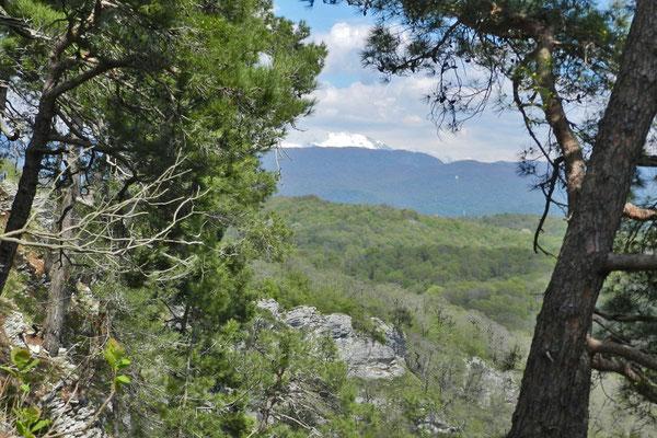 Aussicht nach Osten zu den Gipfeln des West-Kaukasus